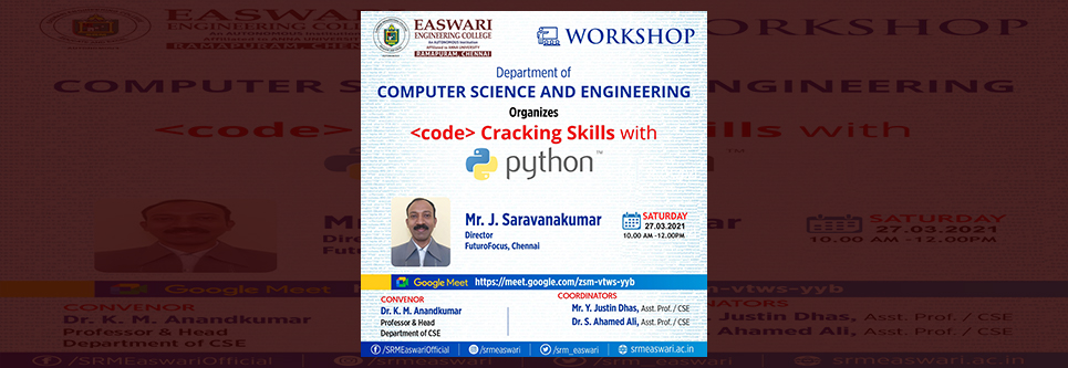 Workshop on Code Cracking Skills with Python Programming