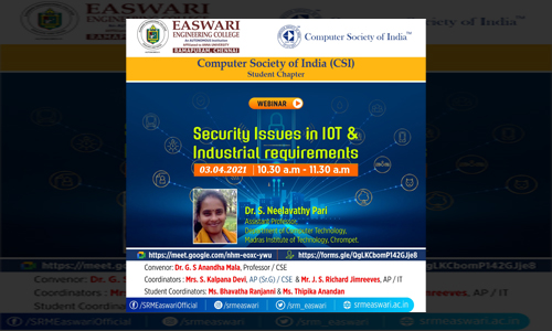 Security Issues in IoT and Industrial requirements