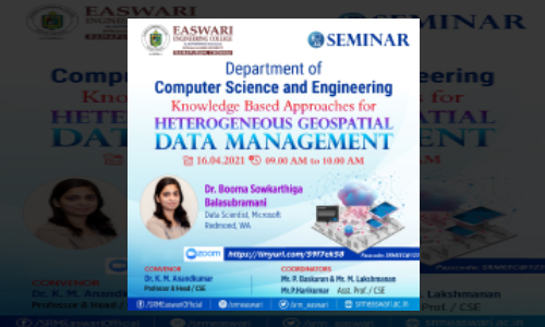 Seminar On Knowledge-Based Approaches for Heterogeneous Geospatial Data Management