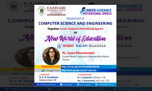 Career Guidance motivational speech on New world of Education