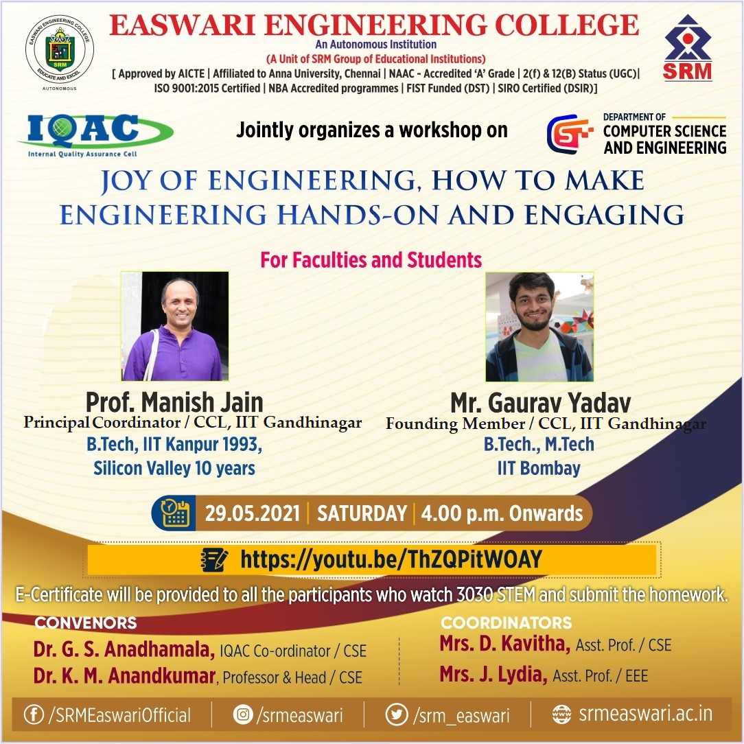 Joy Of Engineering, How To Make Engineering Hands-On And Engaging