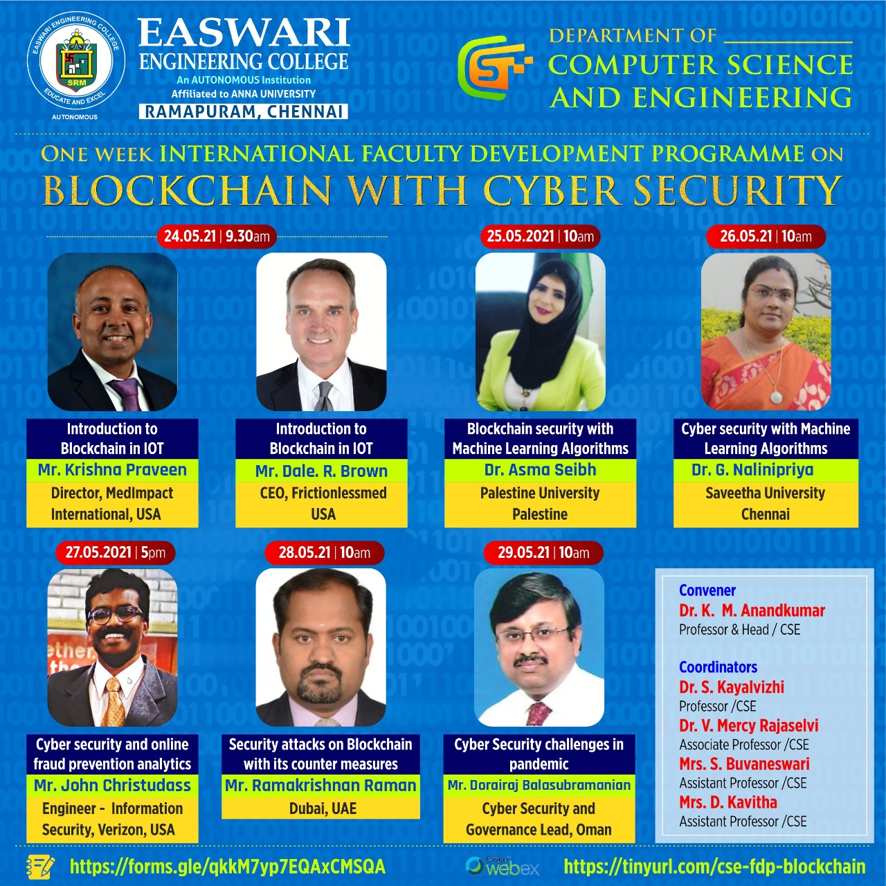 International FDP On Blockchain with Cyber Security