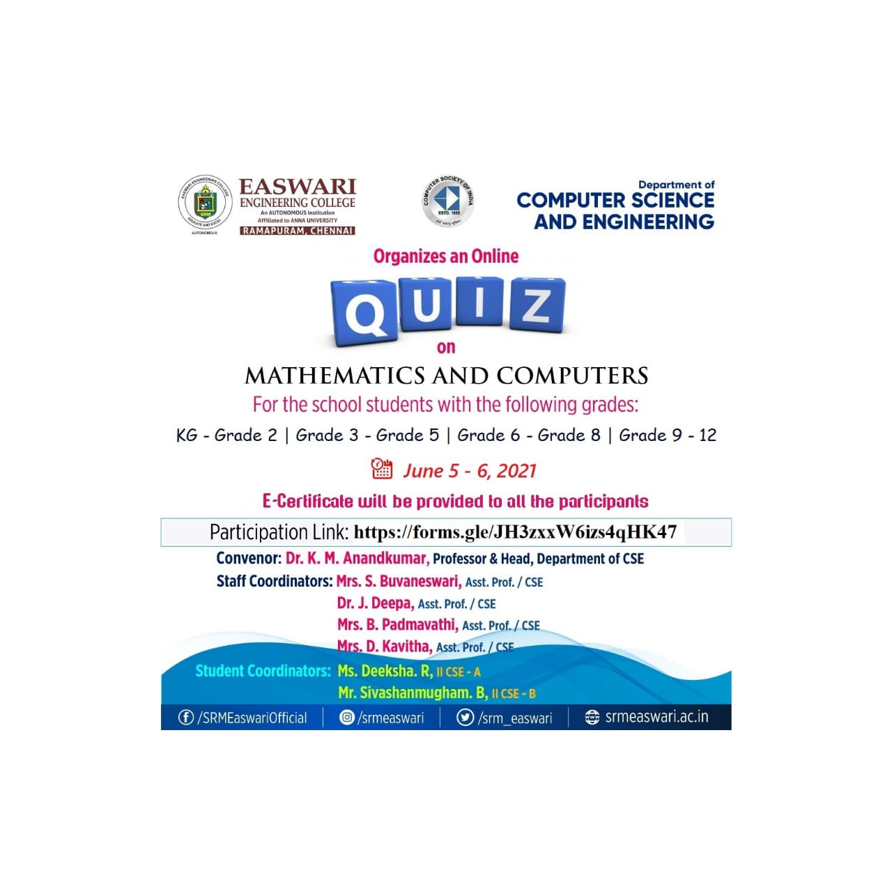 QUIZ ON MATHEMATICS AND COMPUTERS AND CURRENT AFFAIRS