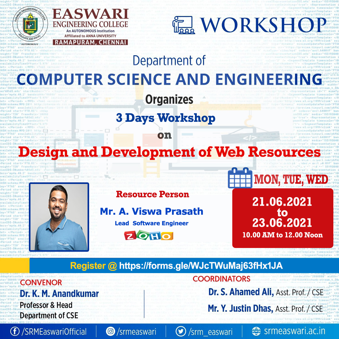 DESIGN AND DEVELOPMENT OF WEB RESOURCES