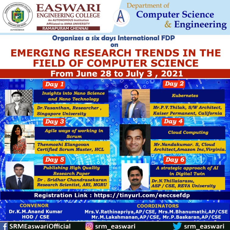 An International FDP on Emerging Research trends in the field of Computer Science